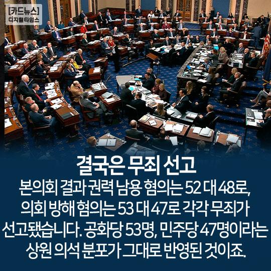 [카드뉴스] 탄핵 비켜간 트럼프